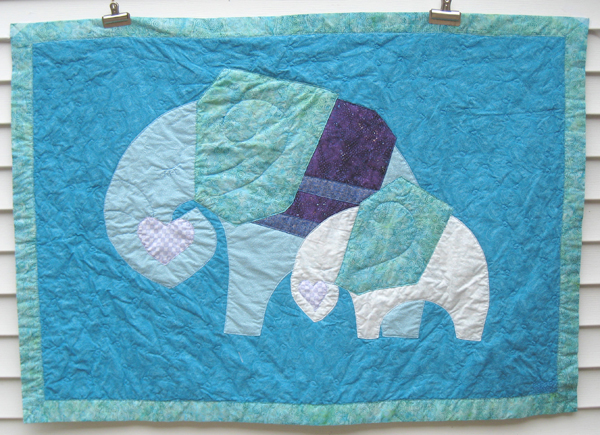 'Mamma & Connor' Elephant Quilt